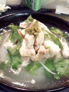 海南鶏飯茶漬け