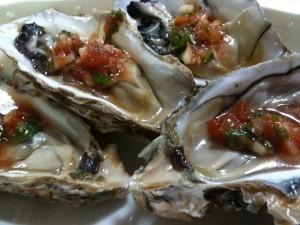 生牡蠣サルサソース